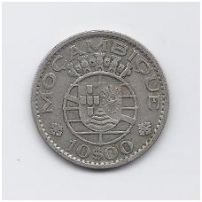 MOZAMBIKAS 10 ESCUDOS 1954 KM # 79 VF