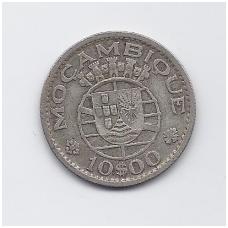 MOZAMBIKAS 10 ESCUDOS 1960 KM # 79 VF
