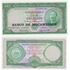 MOZAMBIKAS 100 ESCUDOS 1976 P # 117 UNC
