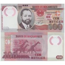 MOZAMBIKAS 100 METICAIS 2011 P # 151 UNC