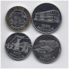 MOZAMBIKAS 1994 - 2003 m. 4 monetų rinkinukas