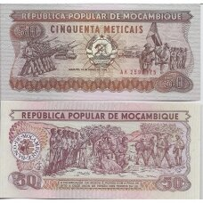 MOZAMBIKAS 50 METICAIS 1986 P # 129 UNC