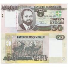 MOZAMBIKAS 50 METICAIS 2006 P # 144a AU