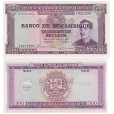 MOZAMBIKAS 500 ESCUDOS 1976 P # 118 UNC