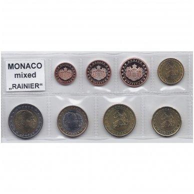 MONAKAS 2002 - 2005 m. EURO MONETŲ RINKINYS