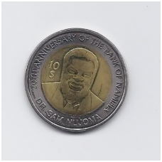 NAMIBIJA 10 DOLLARS 2010 KM # 21 aUNC