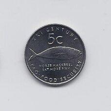NAMIBIJA 5 CENTS 2000 KM # 16 UNC F.A.O.