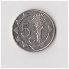 NAMIBIJA 5 CENTS 2002 KM # 1 VF