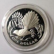 NAUJOJI ZELANDIJA 1 DOLLAR 1980 KM # 49a PROOF