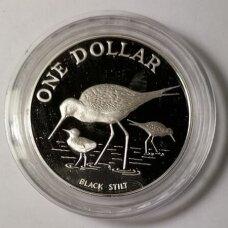 NAUJOJI ZELANDIJA 1 DOLLAR 1985 KM # 55a PROOF