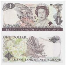 NAUJOJI ZELANDIJA 1 DOLLAR 1989 - 1992 P # 169c AU