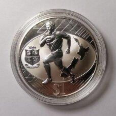 """NAUJOJI ZELANDIJA 1 DOLLAR 2005 KM # 156a PROOF Britų """"Liūtai"""" (kapsulėje)"""