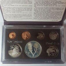 NAUJOJI ZELANDIJA 1981 m. 7 monetų proof rinkinys