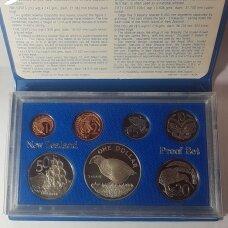 NAUJOJI ZELANDIJA 1982 m. 7 monetų proof rinkinys