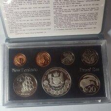 NAUJOJI ZELANDIJA 1983 m. 7 monetų proof rinkinys