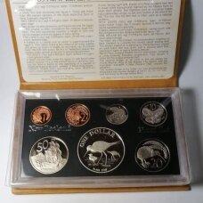 NAUJOJI ZELANDIJA 1985 m. 7 monetų proof rinkinys