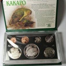 NAUJOJI ZELANDIJA 1986 m. 7 monetų proof rinkinys