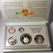 NAUJOJI ZELANDIJA 1989 m. 7 monetų proof rinkinys