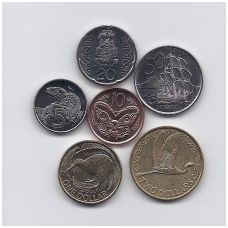 NAUJOJI ZELANDIJA 2004 - 2010 m. 6 MONETŲ RINKINYS