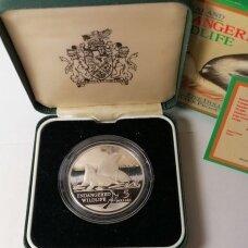NAUJOJI ZELANDIJA 5 DOLLARS 1993 KM # 89 PROOF Jūros liūtai