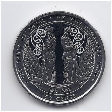 NAUJOJI ZELANDIJA 50 CENTS 2015 KM # 376 UNC