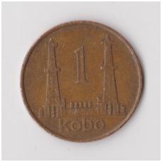 NIGERIJA 1 KOBO 1974 KM # 8.1 VF