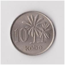 NIGERIJA 10 KOBO 1973 KM # 10.1 XF