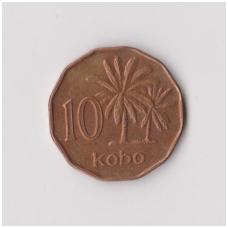 NIGERIJA 10 KOBO 1991 KM # 12 VF-XF