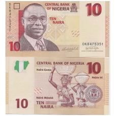 NIGERIJA 10 NAIRA 2007 P # 33b AU