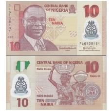 NIGERIJA 10 NAIRA 2009 P # 39 UNC