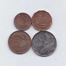 NIGERIJA 1991 m. 4 monetų rinkinys