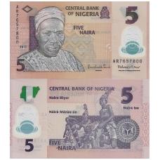 NIGERIJA 5 NAIRA 2013 P # 38 UNC