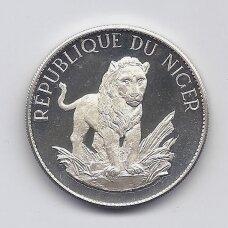 NIGERIS 10 FRANCS 1968 KM # 8.1 PROOF Liūtas