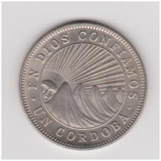 NIKARAGVA 1 CORDOBA 1972 KM # 26 AU