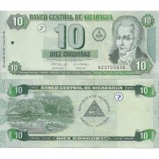 NIKARAGVA 10 CORDOBAS 2002 P # 191 UNC