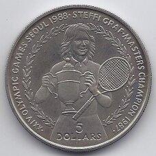 NIUJĖ 1 DOLLAR 1988 KM # 11 AU Olimpiada - Steffi Graf