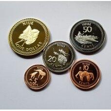 NIUJĖ 2010 m. 5 monetų rinkinukas