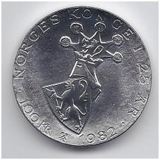 NORVEGIJA 100 KRONER 1982 KM # 426 UNC