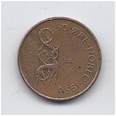 NORVEGIJA 50 ORE 1998 KM # 460 VF