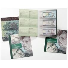 Neišleistų banknotų rinkinys: 500 ir 1000 litų 1991 m., 100 litų 1994 m.
