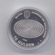 NYDERLANDAI 10 GULDEN 1999 / 2000 KM # 228 PROOF