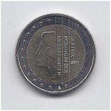 NYDERLANDAI 2 EURO 2011 KM # 272 UNC