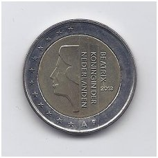 NYDERLANDAI 2 EURO 2013 KM # 272 UNC