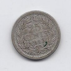 NYDERLANDAI 25 CENTS 1915 KM # 146 F