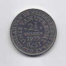 NYDERLANDAI 2.5 GULDENO 1979 KM # 197 VF