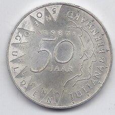 NYDERLANDAI 50 GULDEN 1987 KM # 207 XF