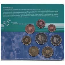 Nyderlandai 2000 m. pilnas euro monetų rinkinukas kortelėje