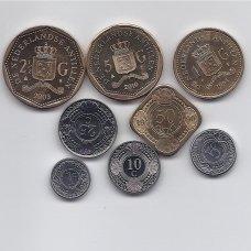 OLANDŲ ANTILAI 8 monetų komplektas