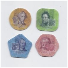 PADNIESTRĖ 2014 m. 4 plastikinių monetų komplektas