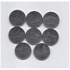 """PADNIESTRĖ 2014 m. 8 monetų komplektas """"miestai"""""""